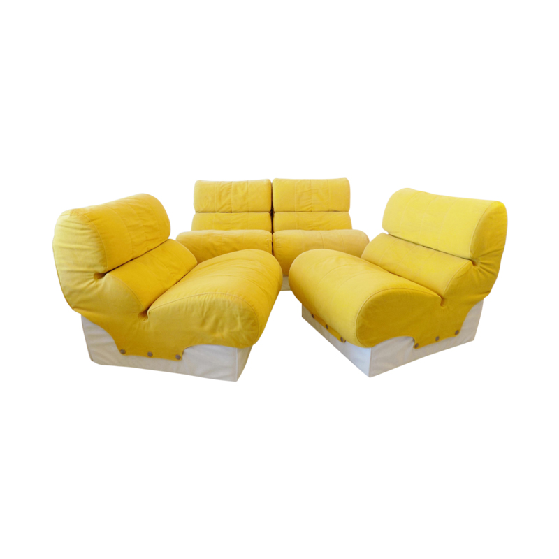 Otto Zapf Softline set of 4 loungechair moduls 70s