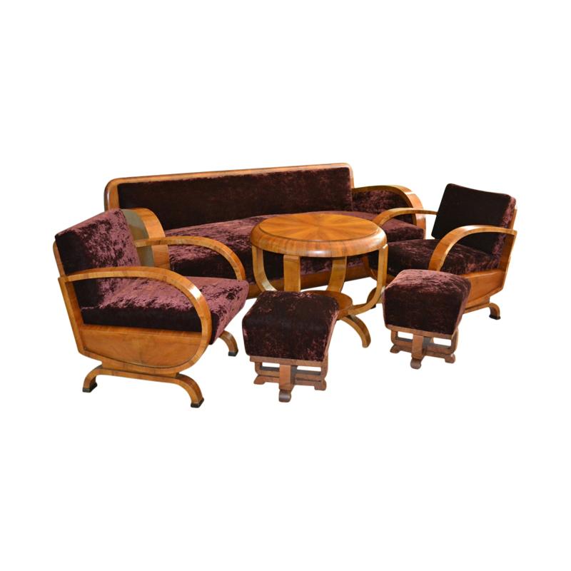Art Deco Living Room Set, 1920s