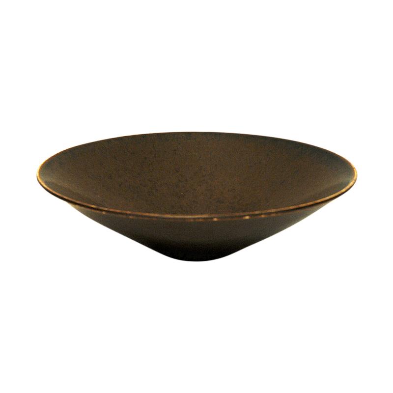 Vintage glazed ceramic bowl by Carl Harry Stålhane, Sweden 1950s