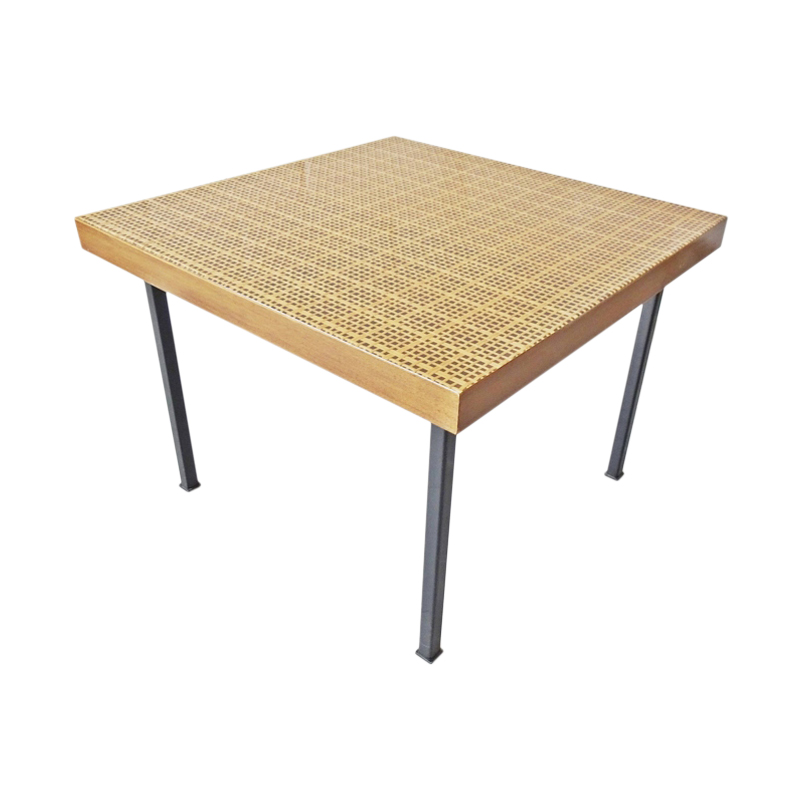 Square coffee table with Viennese weave, 1960s side table
