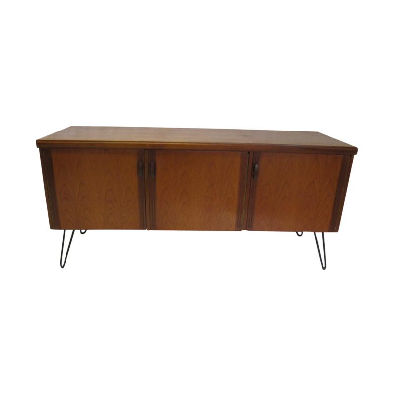 Vintage teak sideboard with pin feet