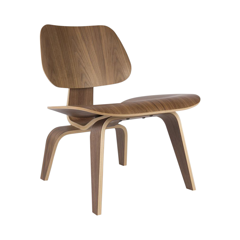 Walnut Herman Miller Original Eames LCW Moulded Plywood Lounge Chair