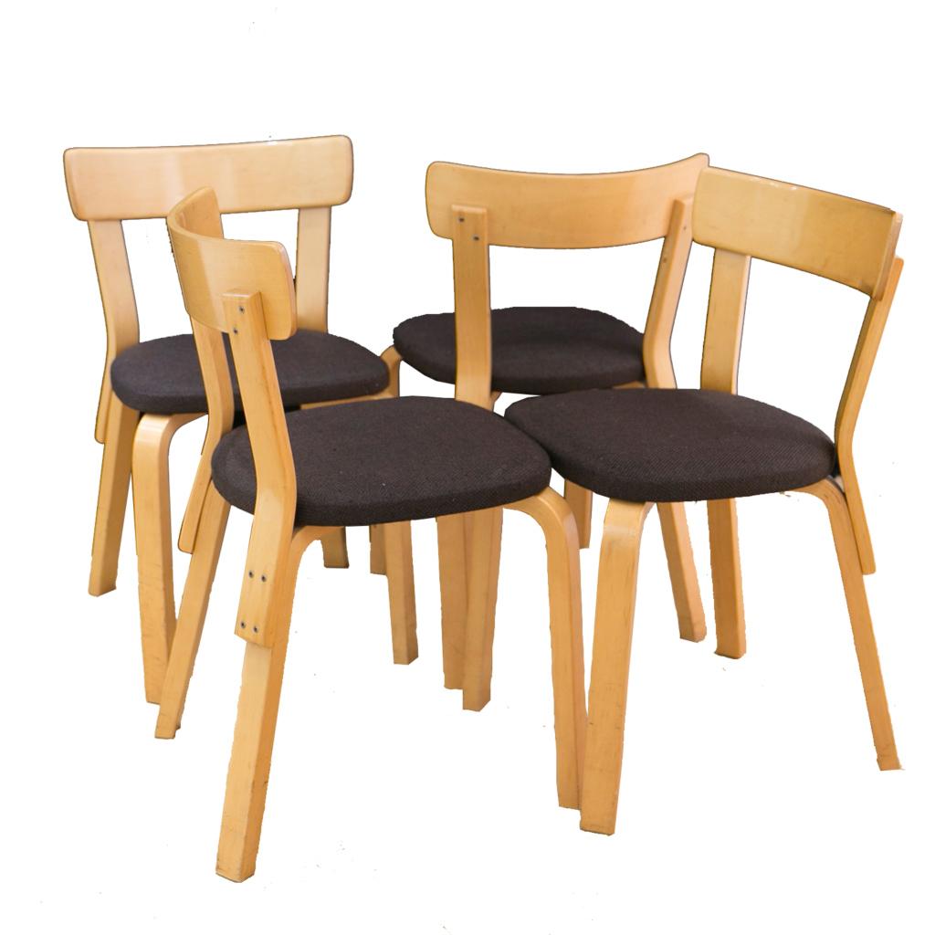 4 chairs model 69 by Alvar Aalto for Artek