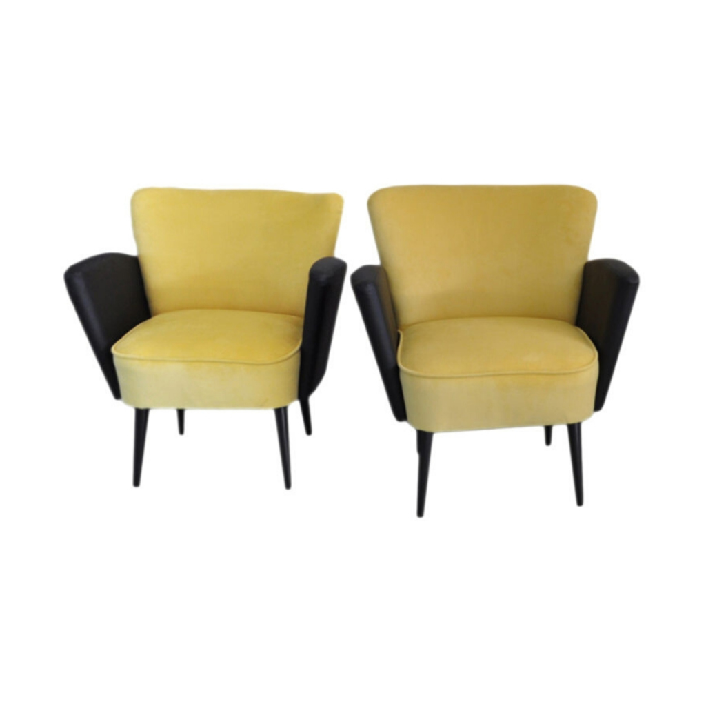 Midcentury Cocktail Chairs, Pair
