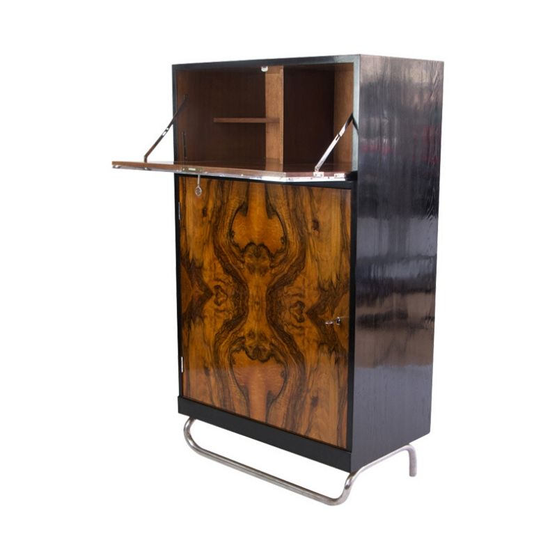 Art Deco half cabinet with French walnut from the 1930s
