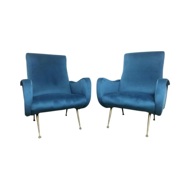 Pair of Armchairs Marco Zanuso