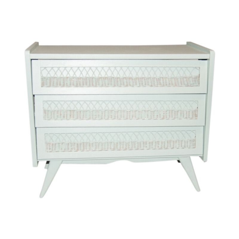 Chest of drawers 3 60s rattan drawers