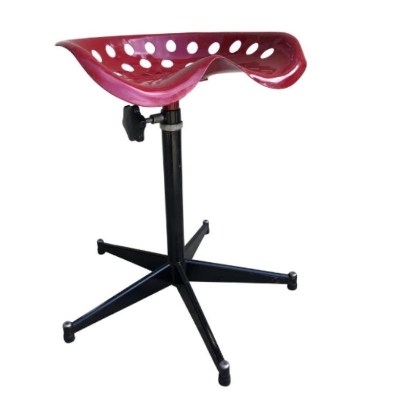Vintage high and ajustable industrial Stool
