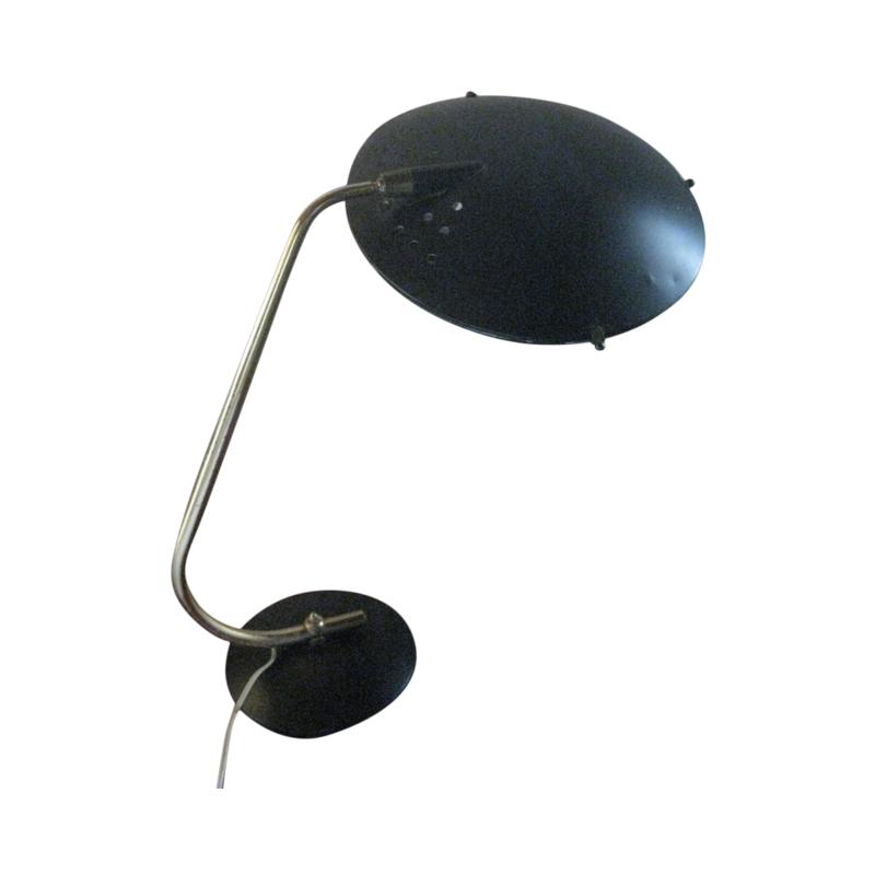 Lampe UFO Aluminor noir 1950