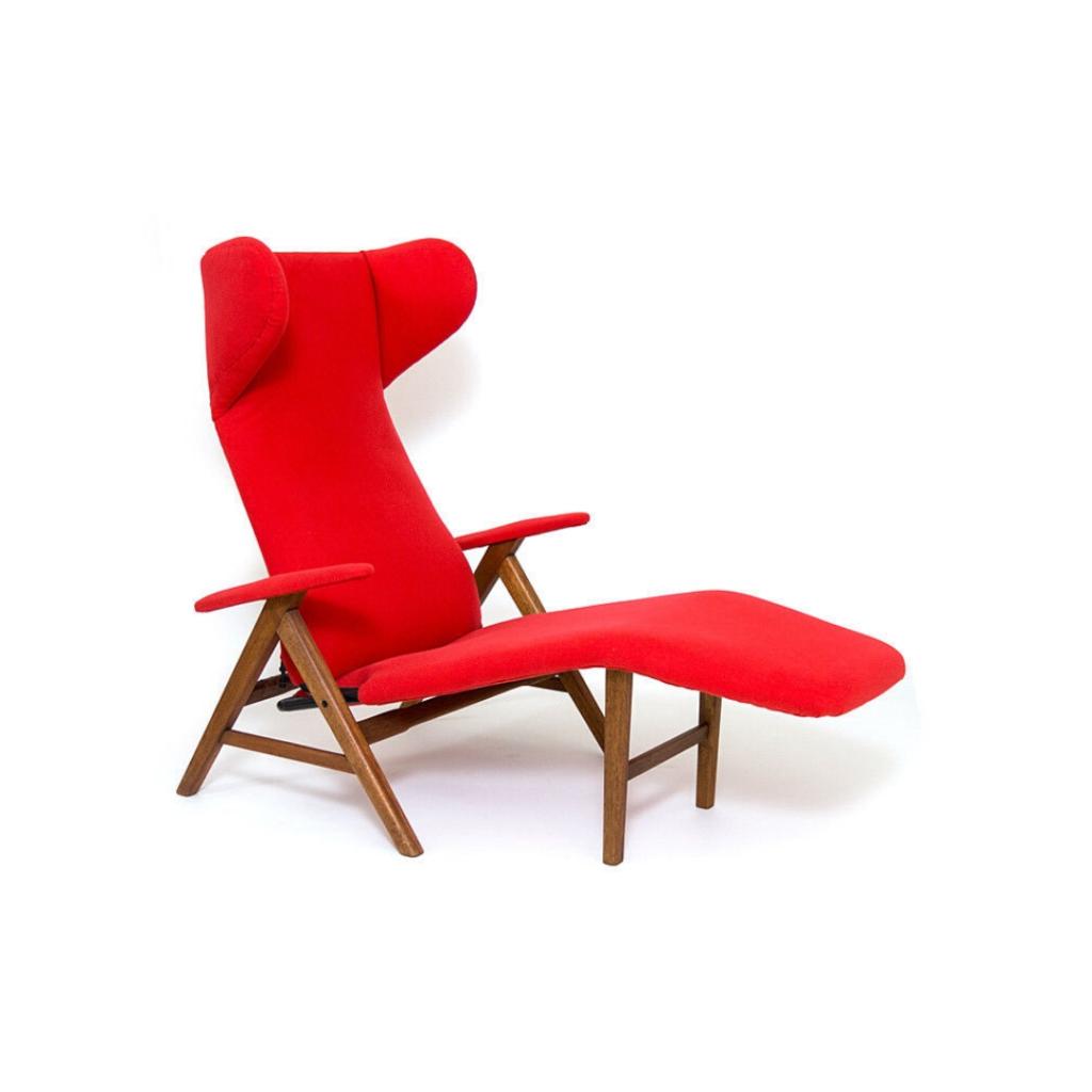 Danish modern chaise lounge design HW Klein for Bramin