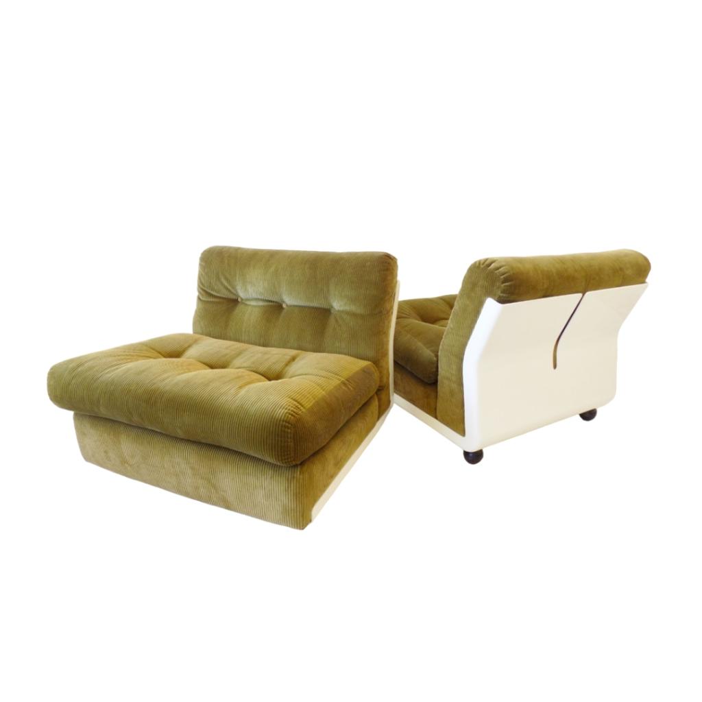 C&B Italia Amanta set of 2 loungechairs by Mario Bellini