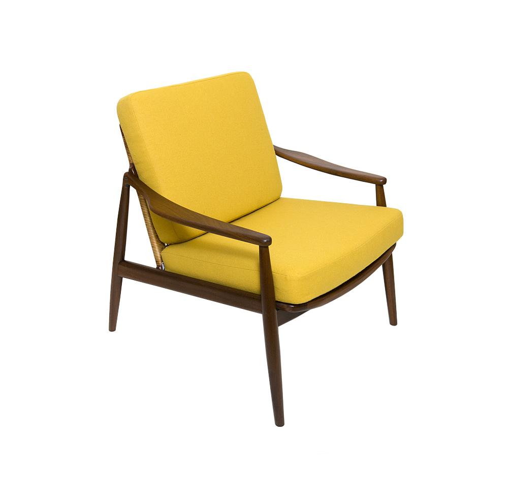 Teak easy chair design Hartmut Lohmeyer Wilkhahn 60s 70s