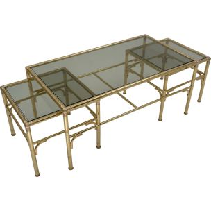 gold-coffee-table-with-2-side-tables-by-chelsom-1980s-ca-english