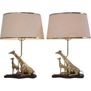 pair-of-table-lamps-vintage-sculpture-of-a-giraffe-and-her-young-by-regina-italy-1970