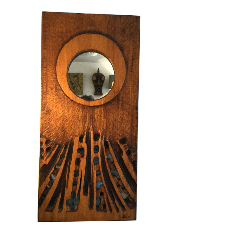 1970s wooden mirror by guallino (2)
