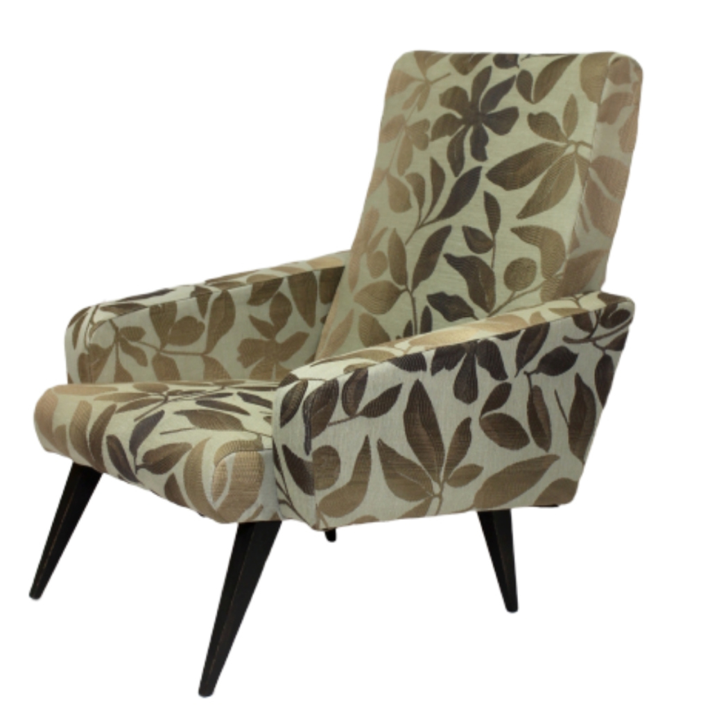 Scandinavian armchairs year 50 completely restored.