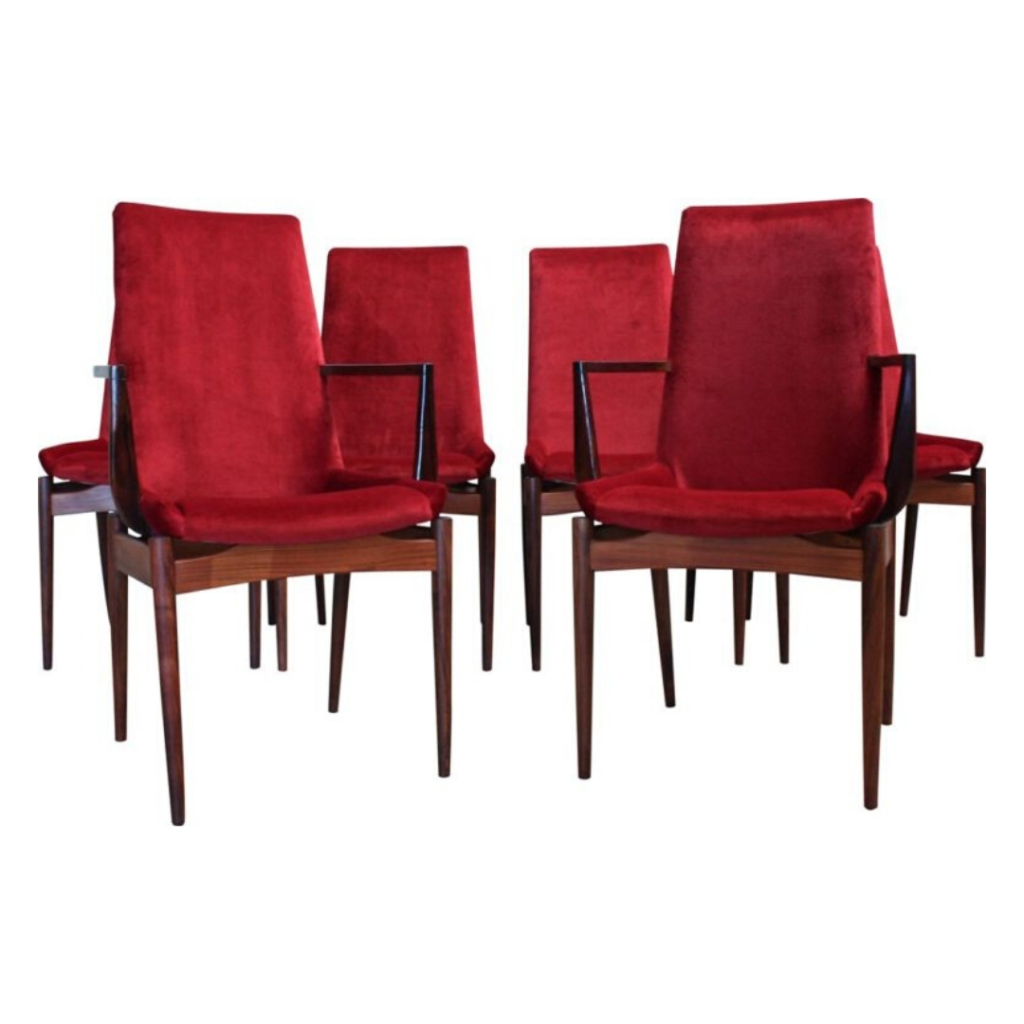 Rosewood Dining Chairs by Robert Heritage for Archie Shine, 1950s, Set of 6