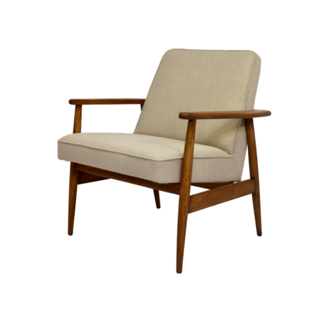 Vintage armchair designed by M. Zieliński year 60, fully restored.