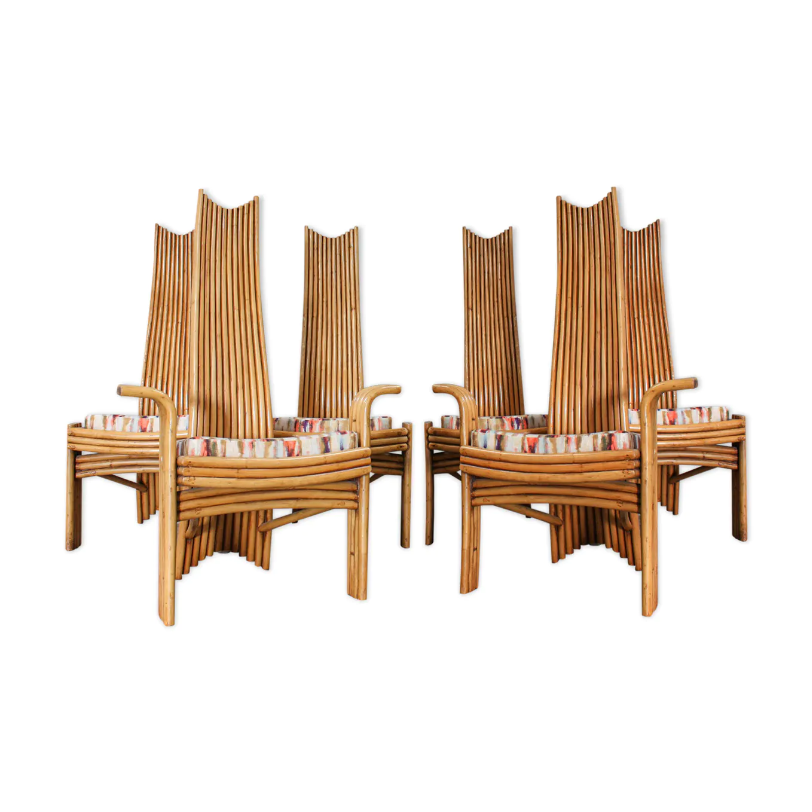 Screenshot_2020-05-08 Bamboo chairs from Mcguire, set of 6, 1970's Selency