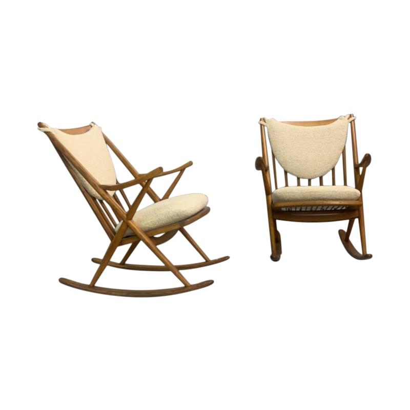 Pair of Danish Rocking Chair by Frank Reenskaug for Bramin, 1960s