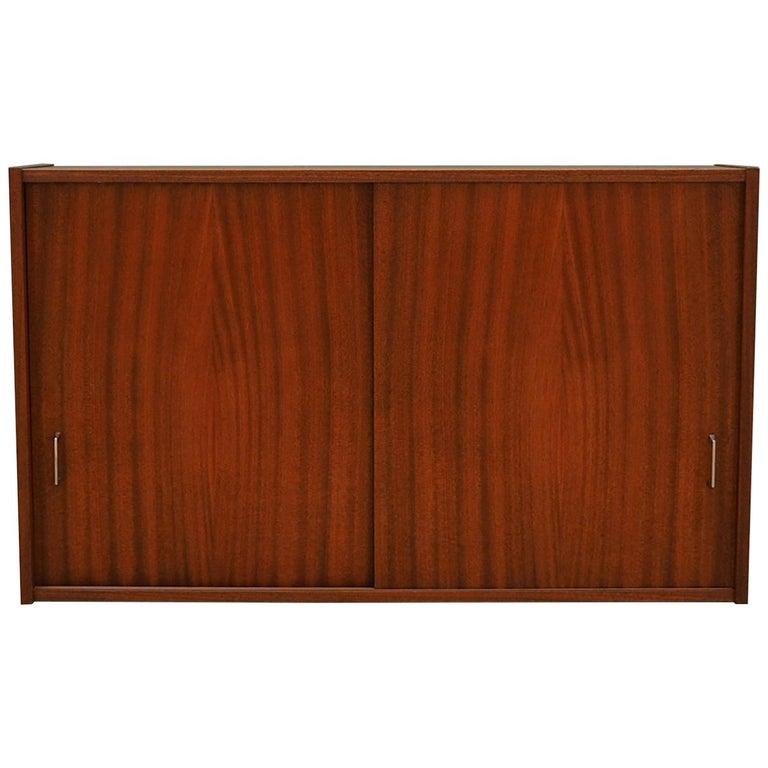 Hanging cabinet mahogany, Danish design, 60's