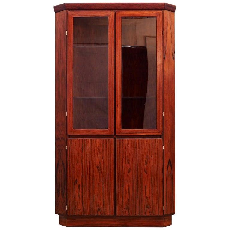 Corner cabinet rosewood, Danish design, 60's