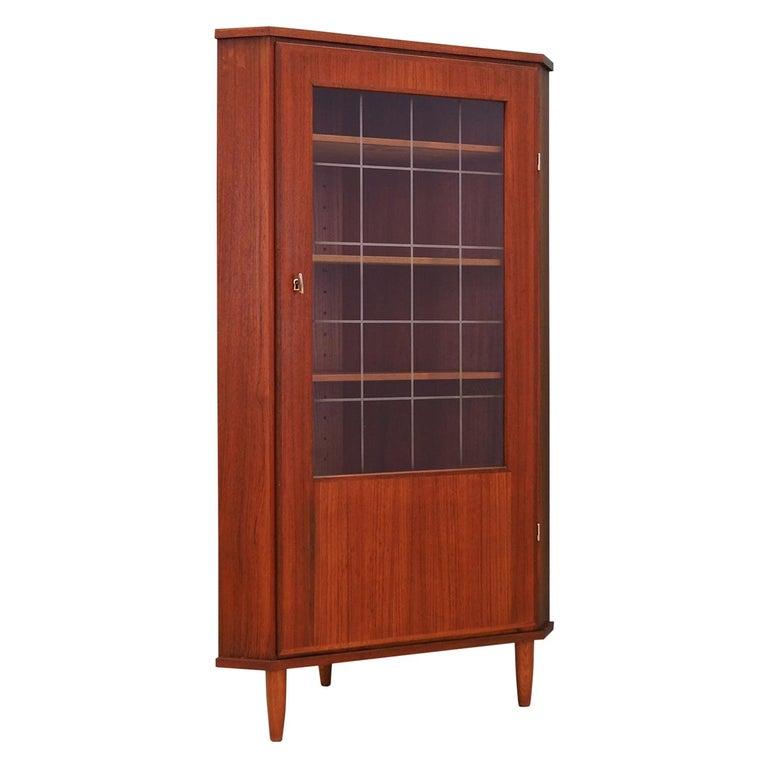 Corner cabinet teak, Danish design, 60's