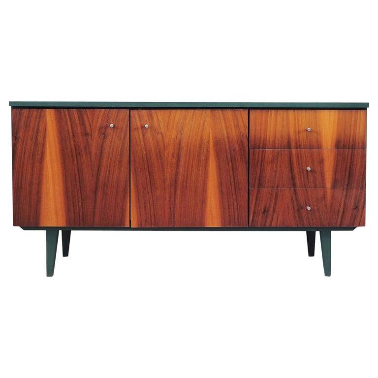 Mahogany cabinet, Polish design, 80s