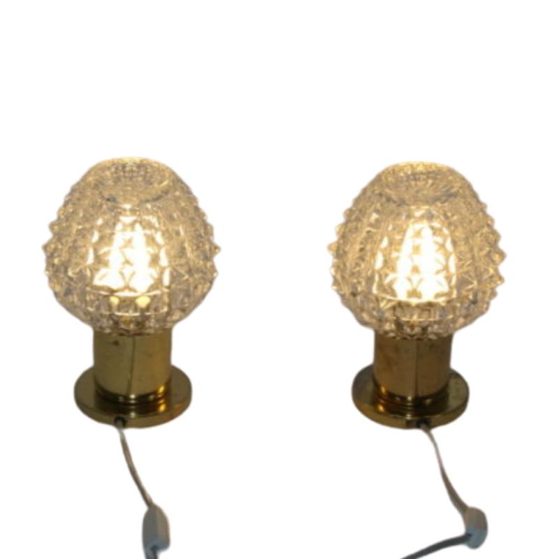 Set of vintage table lamps 1970s Lustry Kamenicky
