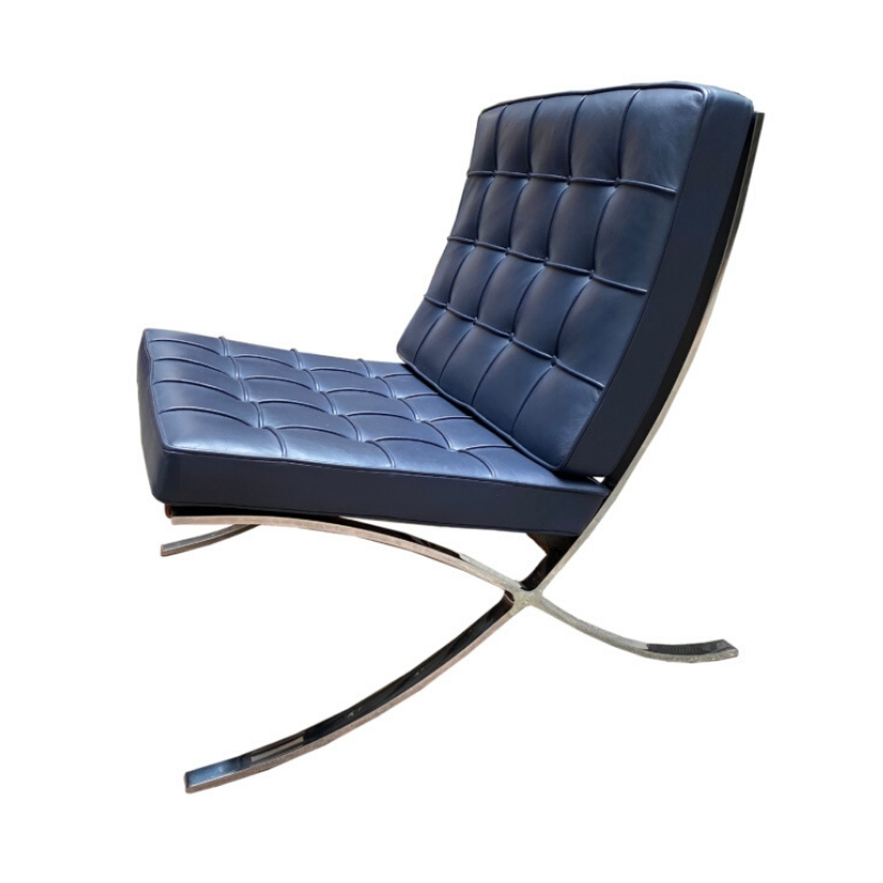 blue barcelona chair ludwig mies van der rohe design addict lounge easy chairs blue barcelona chair ludwig mies van der rohe