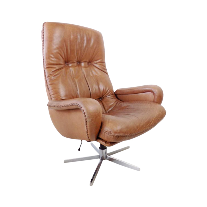 De Sede S 231 James Bond brown leather armchair
