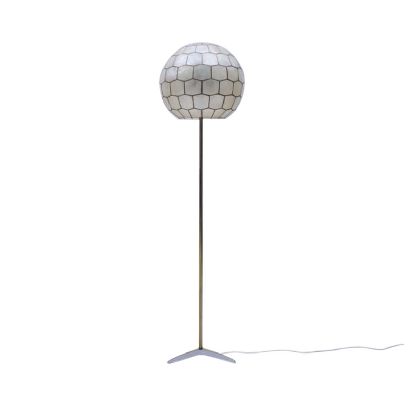 Height Adjustable Tripod Floor Lamp Made in Brass, 1950s