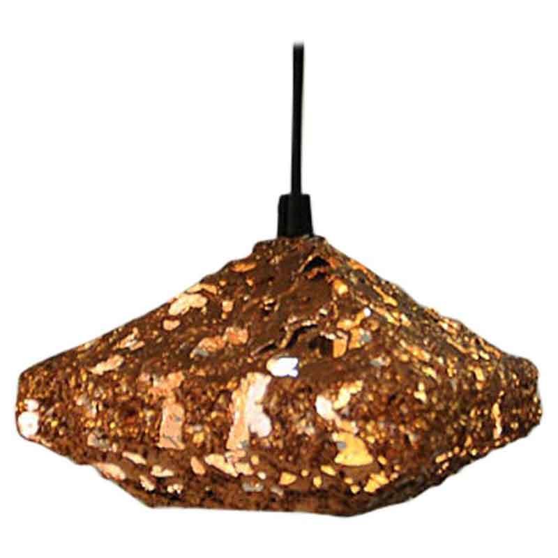 Brutalist squareshaped Copper Ceilinglamp 1960`s, Sweden