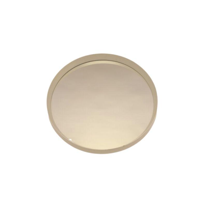 Vintage Large Round White Mirror 1960s