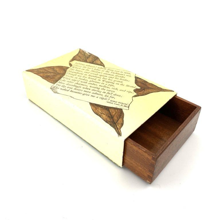 Piero Fornasetti, Lord Byron Mid-century Cigars Box