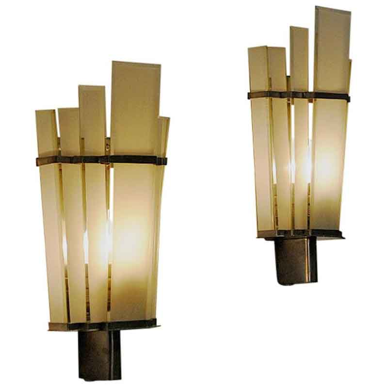 Art Deco Wall sconces pair by Zenith – Germany 1930-1940s
