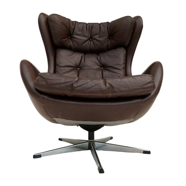 Danish design by H.W.Klein, armchair, original condition, 70s, leather