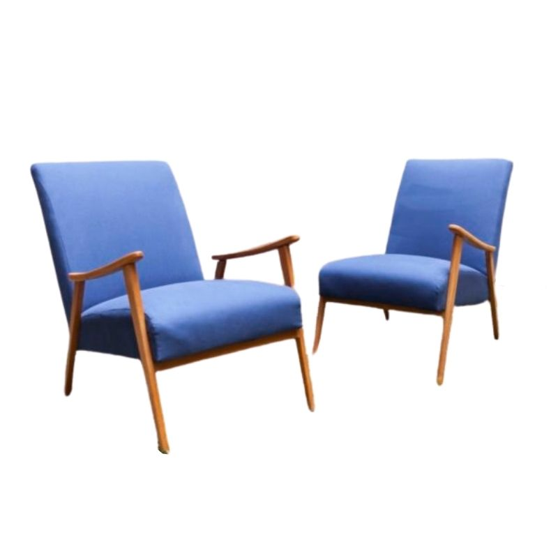 Pair of restored 60's scandinavian armchairs