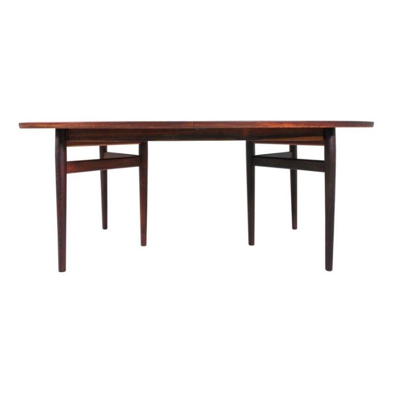 Danish Rosewood Model 212 Dining Table by Arne Vodder for Sibast, 1950s