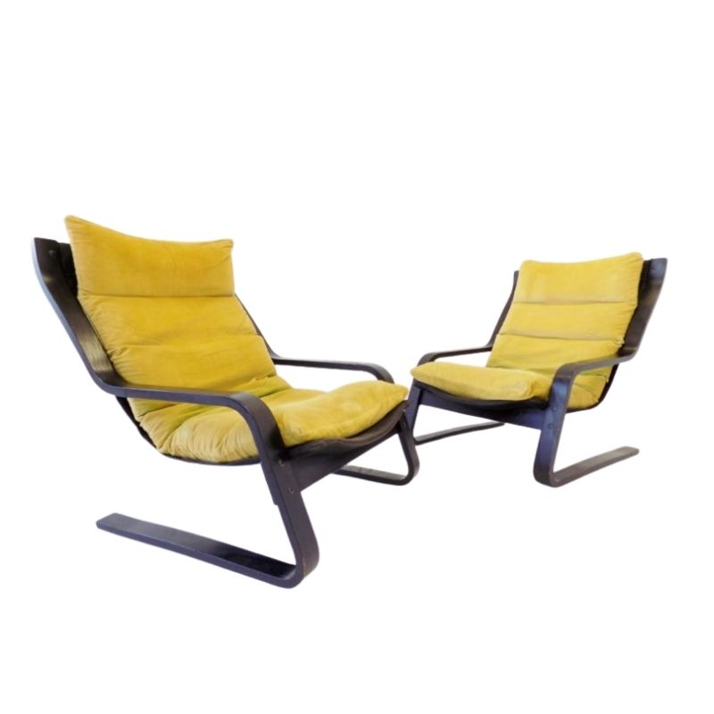 Farstrup cantilever chair set of 2 70s