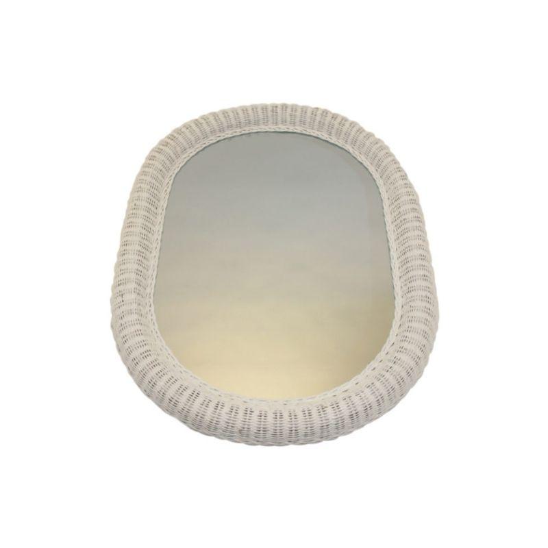 Large Rattan Mirror Scandinavia