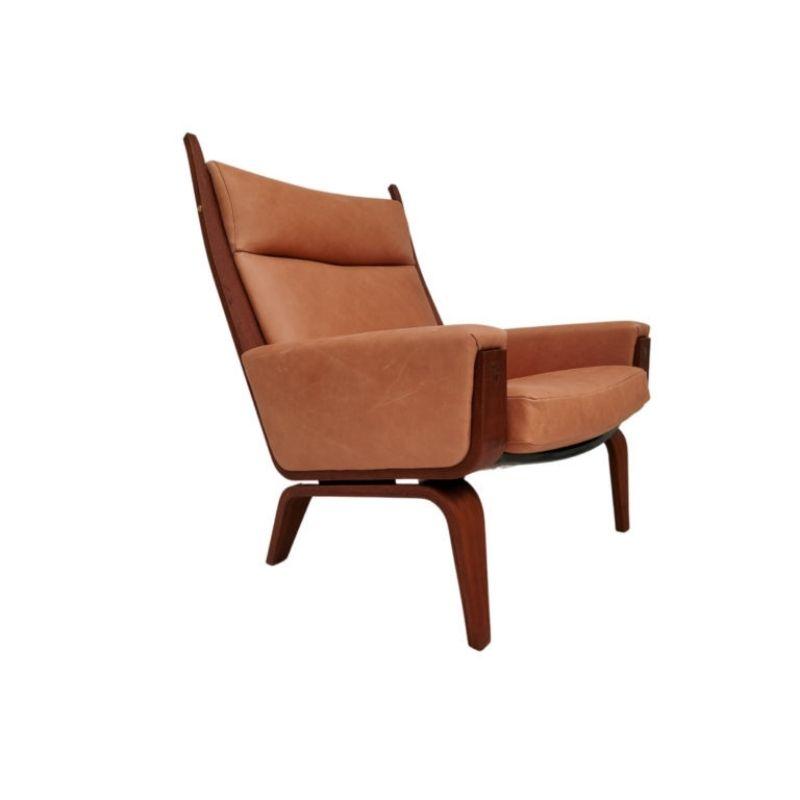 H.J.Wegner, GE501A, Danish top design, 70s, mahogany, leather