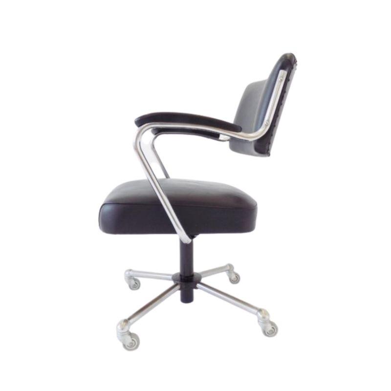 Drabert office chair black leatherette 60s