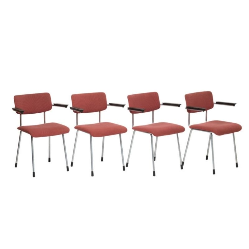 Gispen Model 1235 armchairs by André Cordemeyer, set of 4