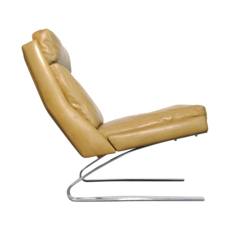 Vintage Leather swing chair by Reinhold Adolf & Hans Jürgen Schröpfer for COR Sitzmöbel, Germany 1960s