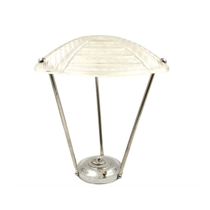Jean Noverdy Art Deco Table Lamp, Noverdy, France, ca. 1930
