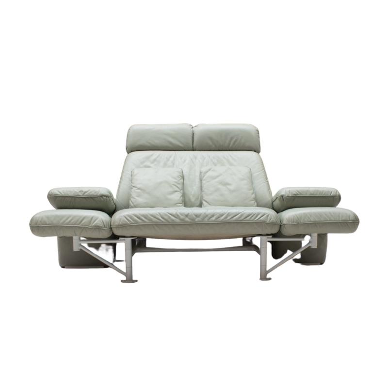 """Extremely Rare Adjustable Sofa """"Trio"""" by Jochen Hoffmann for Franz Fertig, 1985"""
