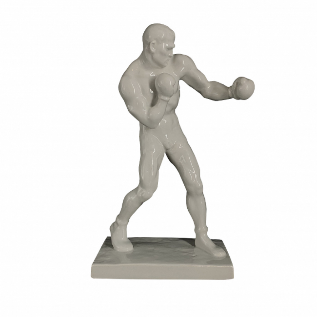 Boxer – Herend, from 1936 'Art Deco Sport Olympics Series'. Signed & Numbered