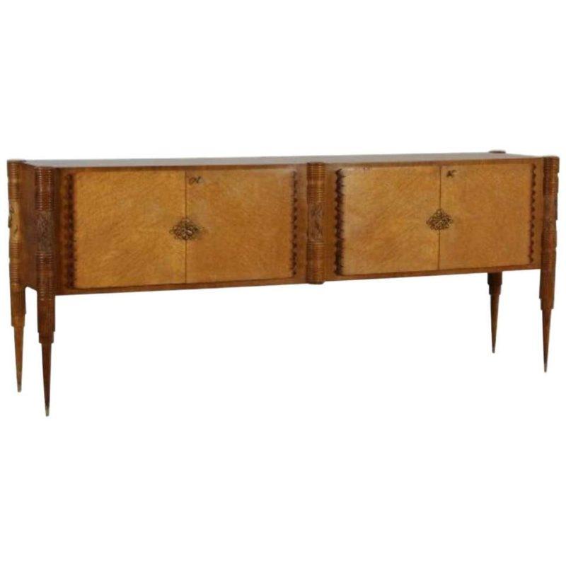 Pier Luigi Colli Mid-Century Modern Maple Wood Italian Sideboard, circa 1950