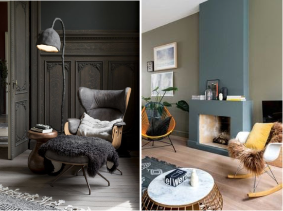 Sixties and modern classic winter interiors